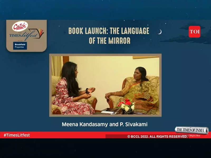 (Left-right): Meena Kandasamy interviewing P.Sivakami at the Times Litfest 2021