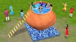 Watch Latest Children Hindi Nursery Story 'Giant Matka Swimming Pool' for Kids - Check out Fun Kids Nursery Rhymes And Baby Songs In Hindi