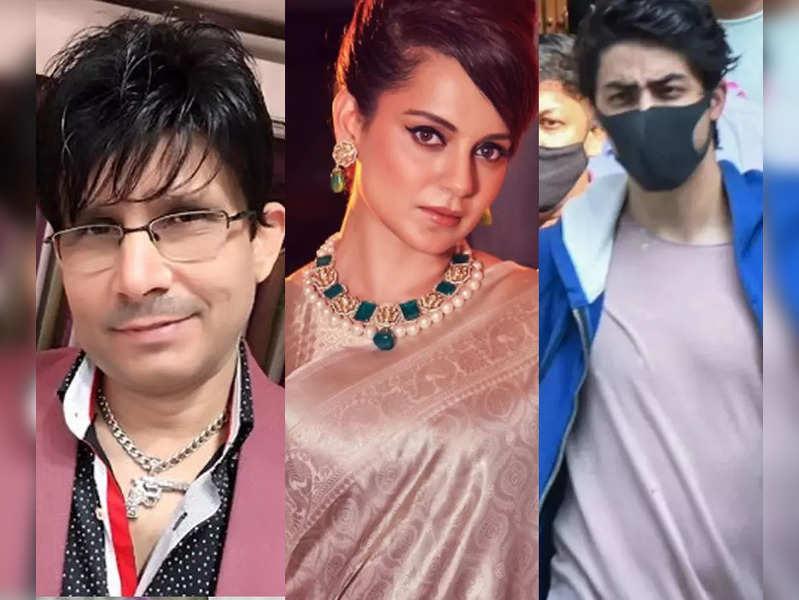 Kamaal R Khan lauds Kangana Ranaut, questions Bollywood's silence over Aryan Khan's arrest