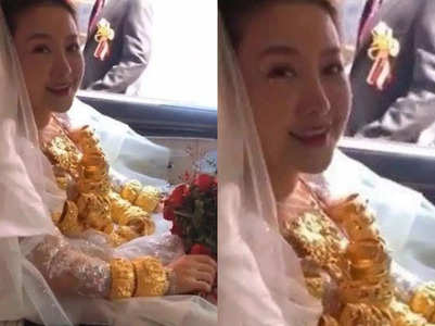 This bride wore 60 kg gold on her wedding day!