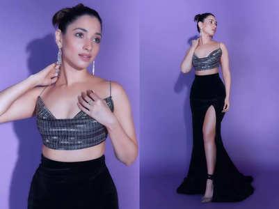 Tamannaah Bhatia's bralette and wrap skirt