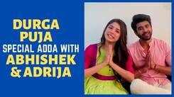 Abhishek Veer Sharma-Adrija Addy Roy engage in Pujo adda and extend wishes on Bijaya Dashami