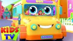 Nursery Rhymes in English: Children Video Song in English 'The Wheels on the Bus - Zoo Bus'