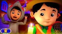 English Nursery Rhymes: Kids Video Song in English 'Monsters In The Dark - Halloween'