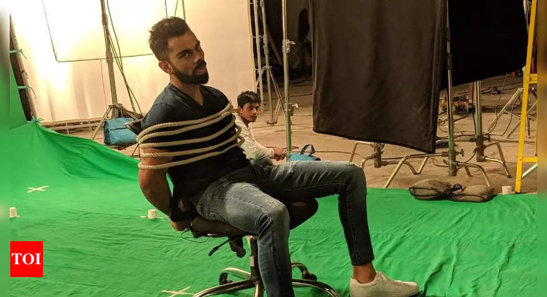 Virat Kohli shares hilarious photo describing 'what playing in bubbles feels like' | Cricket News – Times of India