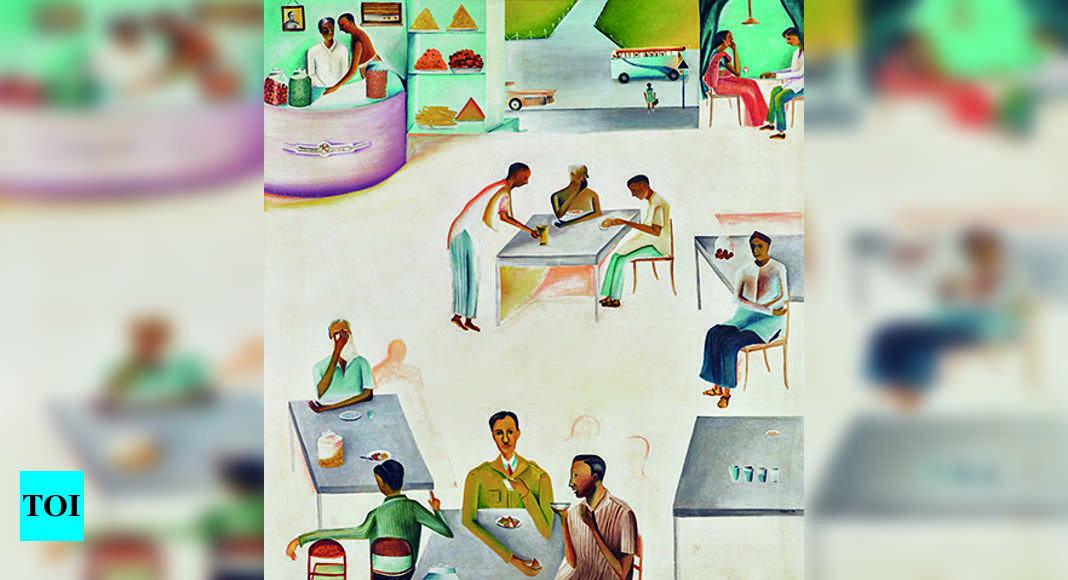 Bhupen Khakhar painting of Indian working classes drinking chai expected to fetch crores at Sotheby's auction