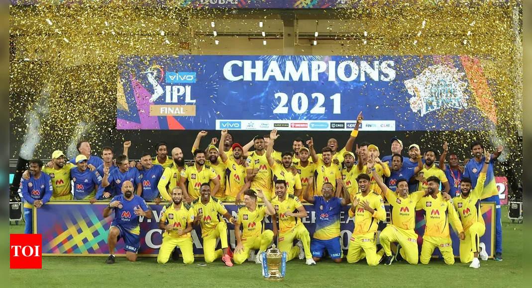 Chennai Super Kings beat Kolkata Knight Riders by 27 runs to clinch fourth IPL title | Cricket News – Times of India