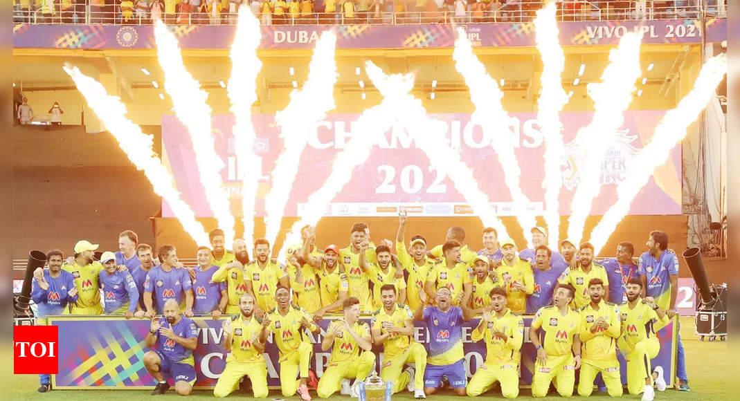IPL 2021: MS Dhoni's Chennai Super Kings knock off Kolkata Knight Riders to lift fourth IPL title | Cricket News – Times of India