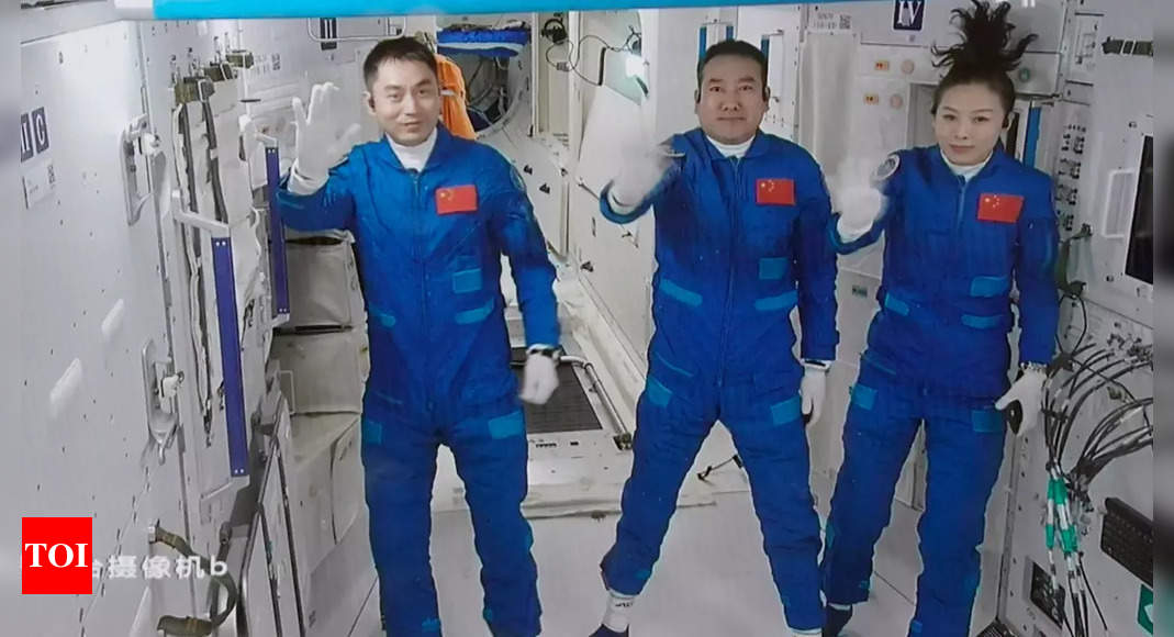 Chinese astronauts enter space station for record six months stay