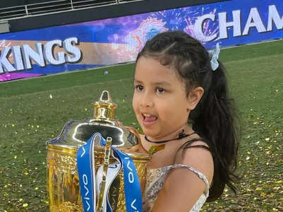 Ziva Dhoni is the littlest fashionista ever