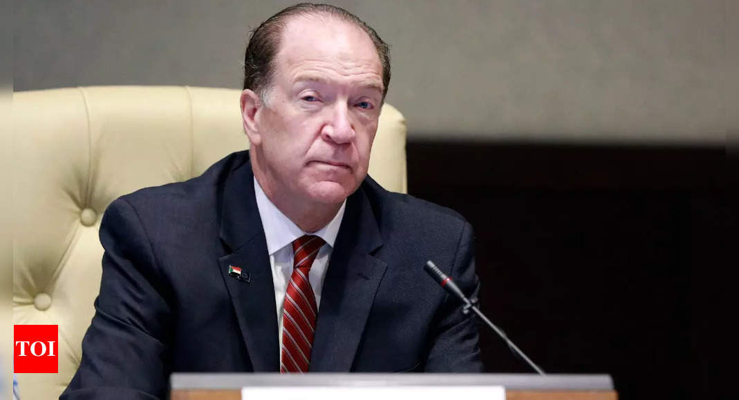 World Bank president congratulates India on successful Covid-19 vaccination campaign | India News – Times of India