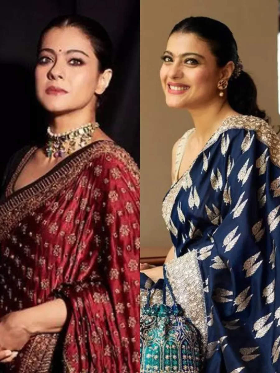Kajol's sari collection is gorgeous