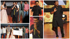 Ram Charan shows off his new look at the pre-release event of Natyam
