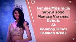 Femina Miss India World 2020 Manasa Varanasi Debuts At Bombay Times Fashion Week