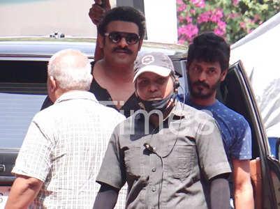 Prabhas on sets of Adipurush in Mumbai