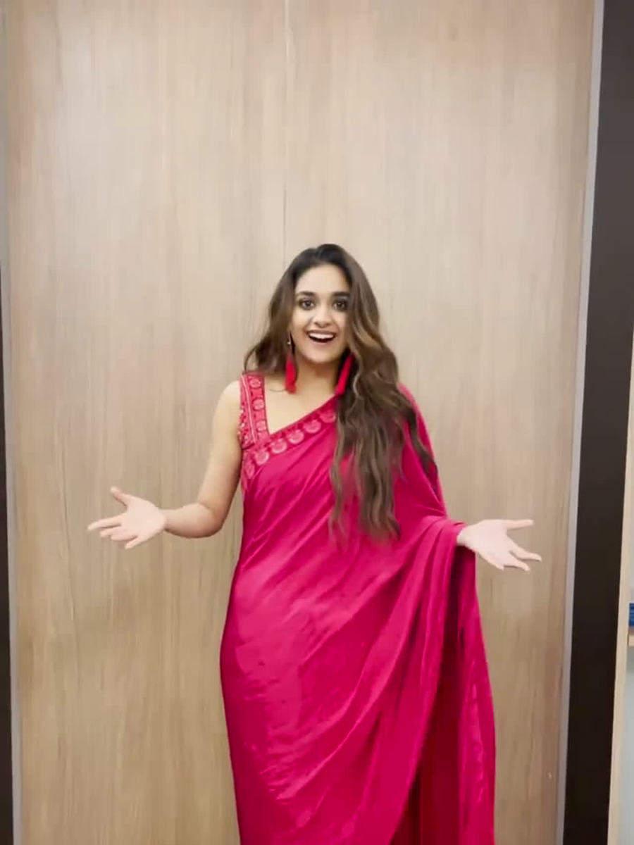 Keerthy Suresh's mesmerising sari looks