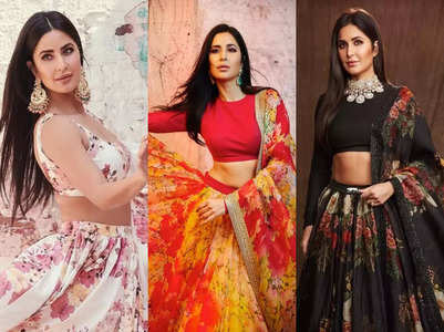 Katrina Kaif is in love with floral lehengas