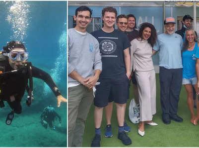 Watch: Priyanka Chopra enjoys scuba-diving