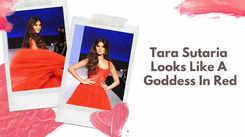 Tara Sutaria Looks Like A Goddess In Red