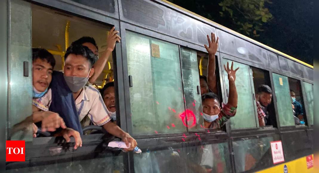 Myanmar frees hundreds of political prisoners