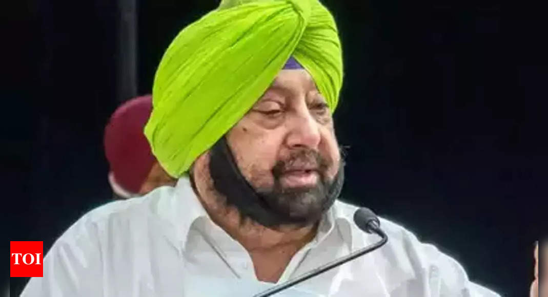 punjab:   Former Punjab CM to launch his own party, hints at alliance with BJP in 2022 polls | India News – Times of India
