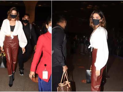Pics: Deepika Padukone's airport look