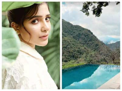 Pics: Samantha holidays in Rishikesh