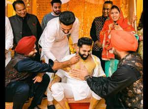 Parmish Verma's candid pic from his Haldi ceremony