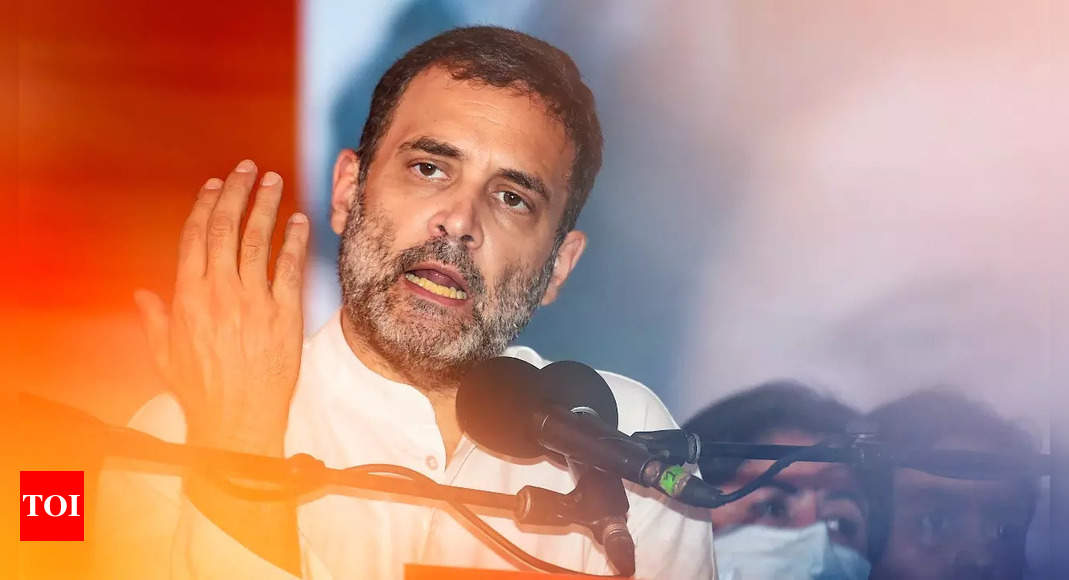 rahul gandhi:   'Drug addict': Congress slams BJP over remarks against Rahul Gandhi | India News – Times of India