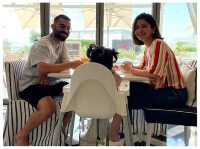 Anushka-Virat's breakfast date with Vamika