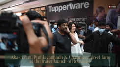 Fans greet Akash Puri, Puri Jaganadh and Charmme at the release of Romantic trailer