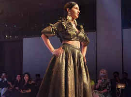 Amyra Dastur makes a statement on Delhi's big date with fashion