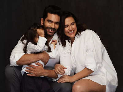 Angad shares glimpse of his newborn son