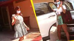 Janhvi Kapoor, Sara Ali Khan snapped in and around Mumbai