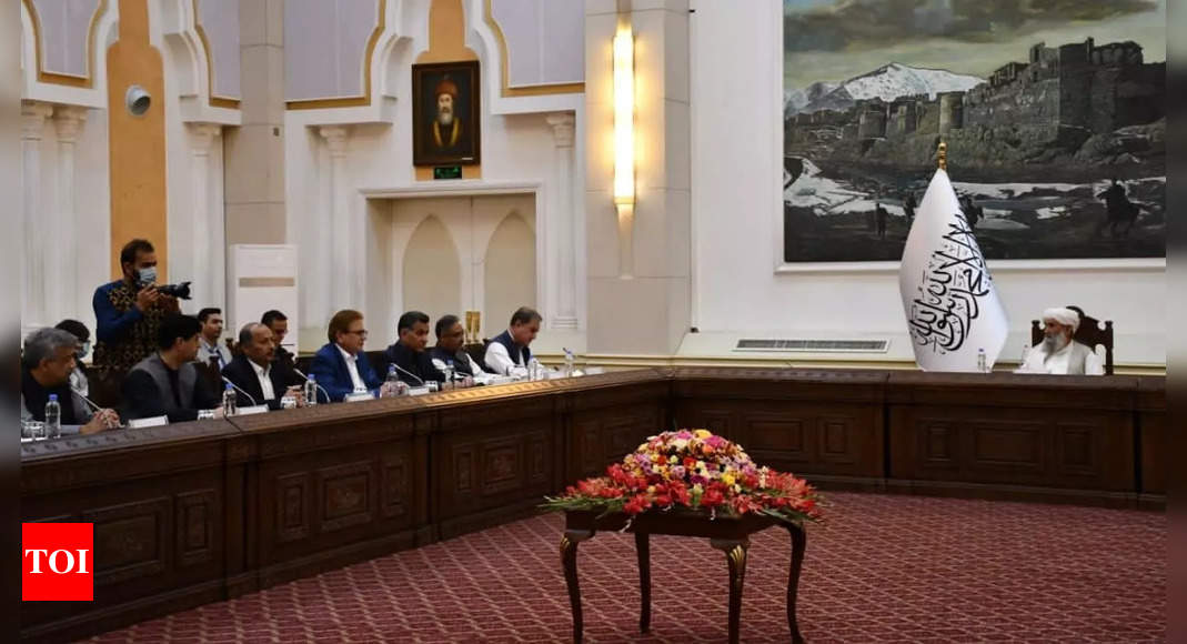 Pak foreign minister meets interim Afghanistan PM, holds bilateral talks in Kabul – Times of India