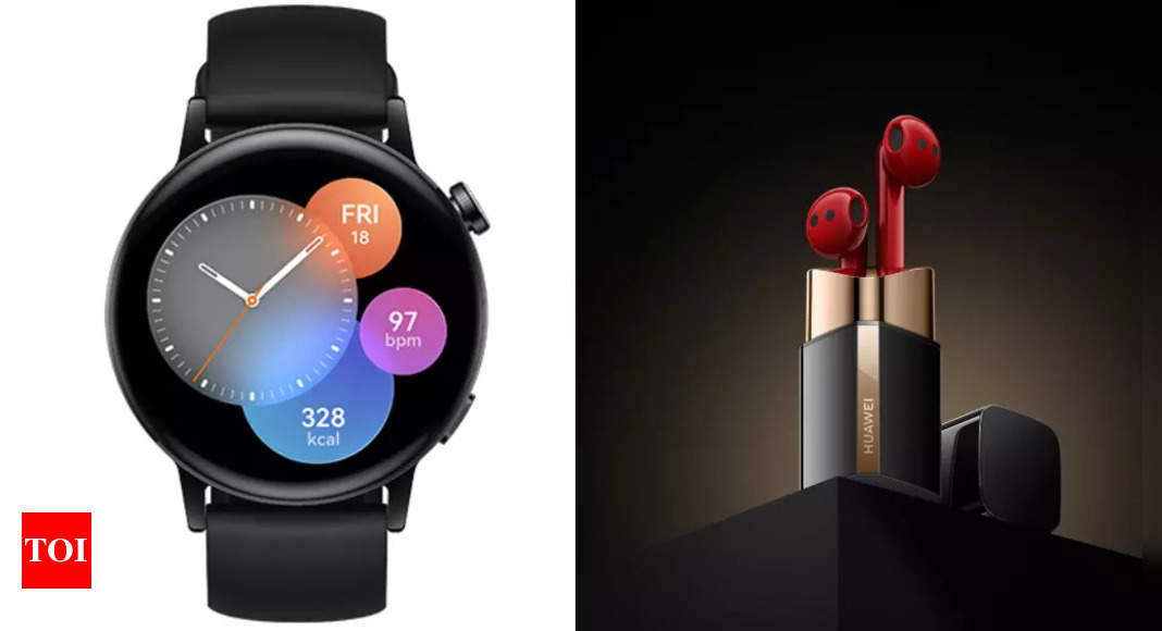 Huawei Watch GT 3: Huawei announces 'Watch GT 3' and 'FreeBuds Lipstick' earbuds – Times of India