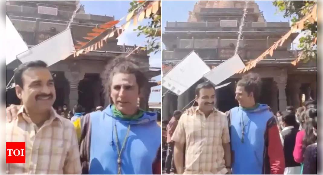 Akshay Kumar, Pankaj Tripathi on 'OMG 2' sets