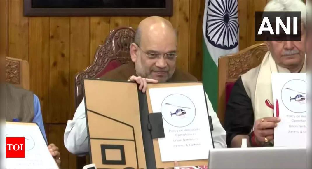 Amit Shah flags off inaugural Srinagar-Sharjah direct flight