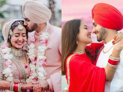 Neha and Rohan's 1st wedding anniv. in pics