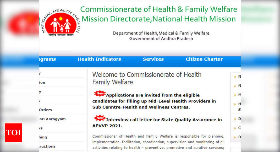 NHM AP Recruitment 2021: Apply for 3393 Mid-Level Health Providers posts