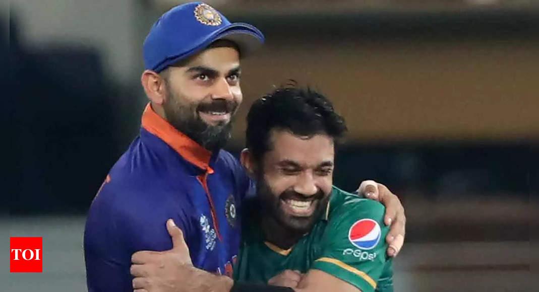 Watch: Kohli hugs Rizwan, fans applaud gesture