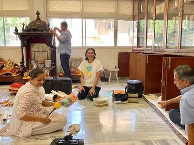 Photos: Juhi Chawla starts 'Diwali Safai'
