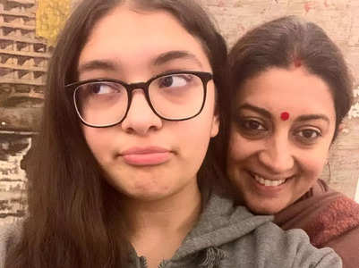Smriti calls daughter her #MondayMotivation
