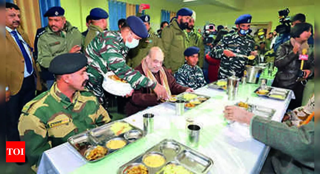 At Pulwama camp, Shah says J&K law & order on the mend