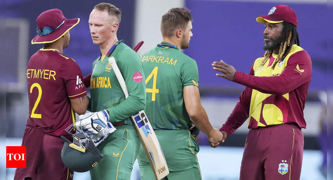 South Africa vs West Indies Match Highlights: Aiden Markram hits explosive fifty as South Africa crush West Indies by 8 wickets   Cricket News – Times of India