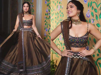 Bhumi's lehenga is certainly not run-of-the-mill