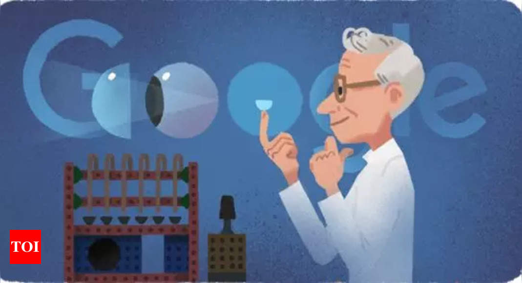 Google honours Otto Wichterle, the inventor of contact lens, with a doodle