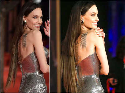 Angelina Jolie's unblended hair extensions
