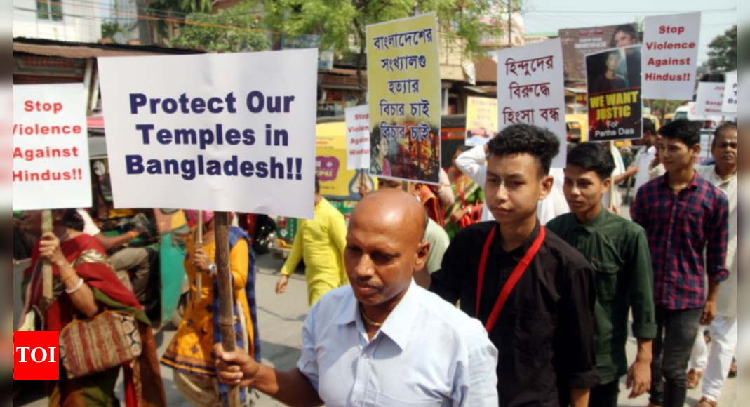 Tripura: Forces guard mosques after tension over Bangladesh violence