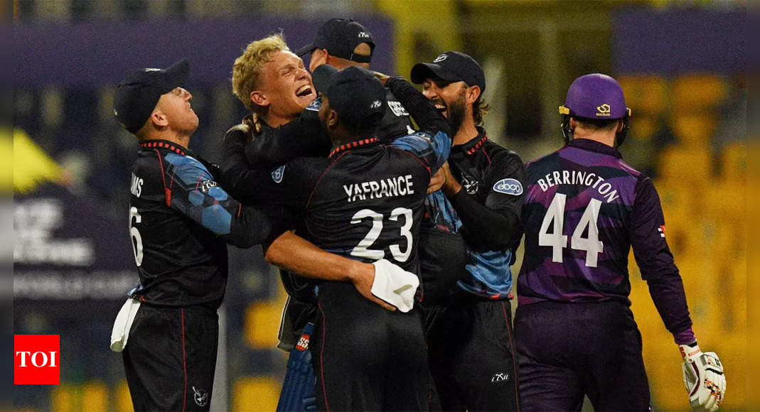 Namibia down Scotland in T20 World Cup